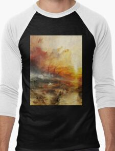 The Slave Ship by JMW Turner Men's Baseball ¾ T-Shirt