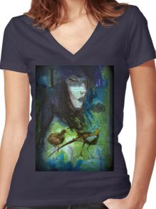 BELIAL Women's Fitted V-Neck T-Shirt