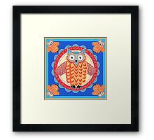 Colorful Night Owl Framed Print