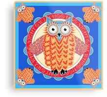 Colorful Night Owl Metal Print
