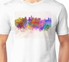 Mexico City skyline in watercolor background Unisex T-Shirt