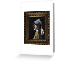 Borg with a Pearl Earring Greeting Card