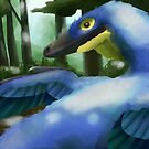 Blue VelociARAptor Hyacinthe by UmbreoNoctie