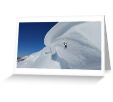 Solo Iceclimbing Greeting Card