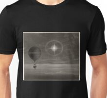 0394 ballooning Lunar halo and luminescent cross observed during the balloon Zénith s long distance flight from Paris to Arcachon in March 1875 Unisex T-Shirt