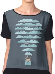 Weather Balloon Chiffon Top