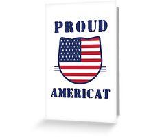 Proud Americat Greeting Card