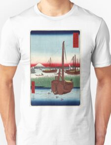 Offing Of Tsukuda In The Eastern Capital - Hiroshige Ando - 1858 - woodcut Unisex T-Shirt