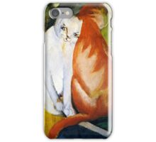 Two Cats Red and White by Franz Marc iPhone Case/Skin