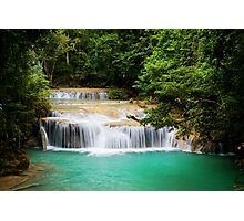 Cascading Stream In The Jungle Photographic Print