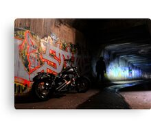 Tunnel Rider... Canvas Print