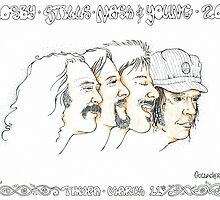 Crosby, Stills, Nash & Young by javajohnart