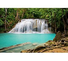 Waterfall in Erawan National Park Photographic Print