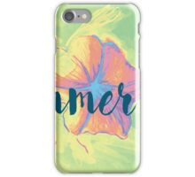 Summer time typographical background with colorful flower. iPhone Case/Skin