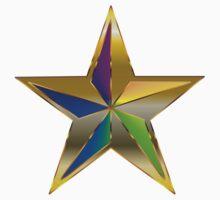 Gold Star Rainbow Baby Tee