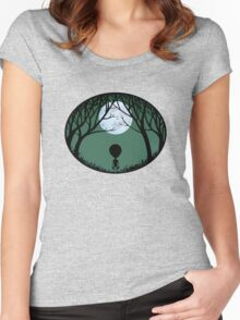 Alien Cute Darknight Women's Fitted Scoop T-Shirt