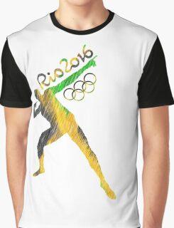 Usain Bolt Rio de Janeiro Olympics Graphic T-Shirt