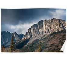 The Rockies at Exshaw Poster
