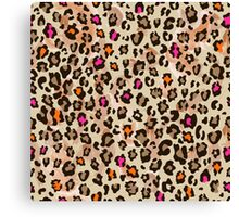 Animal pattern with neon color Canvas Print