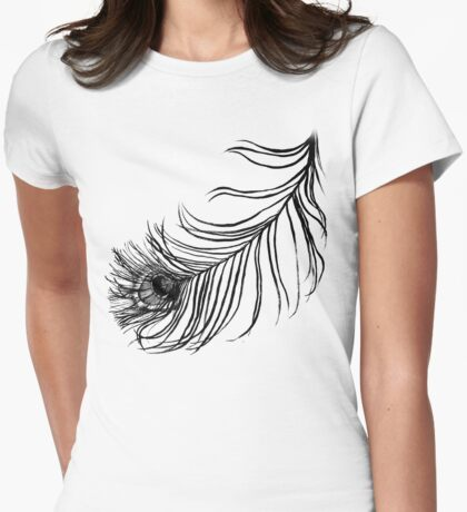 PEACOCK BIRD FEATHER  Womens Fitted T-Shirt