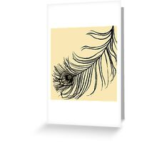 PEACOCK BIRD FEATHER  Greeting Card
