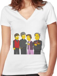 Father Ted - Simpsons Style! Women's Fitted V-Neck T-Shirt