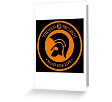 "TROJAN RECORDS "" SKAD'S FOR LIFE "" Greeting Card"