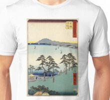 Ohiso - Hiroshige Ando - 1855 - woodcut Unisex T-Shirt