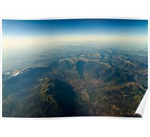 High Altitude Photo Of Planet Earth Horizon Poster