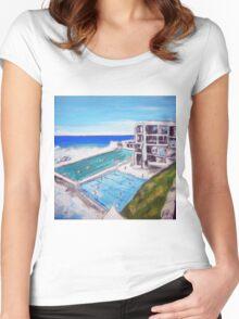Icebergs-Bondi Women's Fitted Scoop T-Shirt