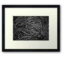 Abstract Industrial Background Framed Print