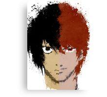 Death Note L vs Light Canvas Print