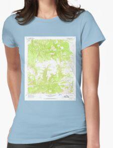 USGS TOPO Map Arizona AZ Willow Mtn SE 314135 1967 24000 Womens Fitted T-Shirt