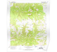 USGS TOPO Map Arizona AZ Willow Mtn SE 314135 1967 24000 Poster