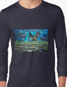 Swimming With The Dolphin's Long Sleeve T-Shirt