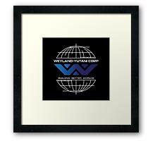 Weyland Yutani - Building Worlds Gradient Logo Framed Print
