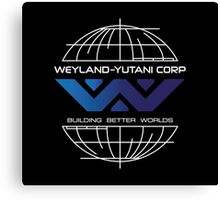 Weyland Yutani - Building Worlds Gradient Logo Canvas Print