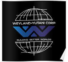 Weyland Yutani - Building Worlds Gradient Logo Poster