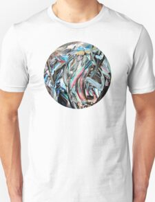 Marble Red Green Blue Abstract Painting Unisex T-Shirt