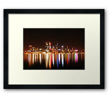 blazing river Framed Print