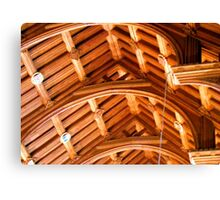 Ceiling in Chester Cathedral Canvas Print