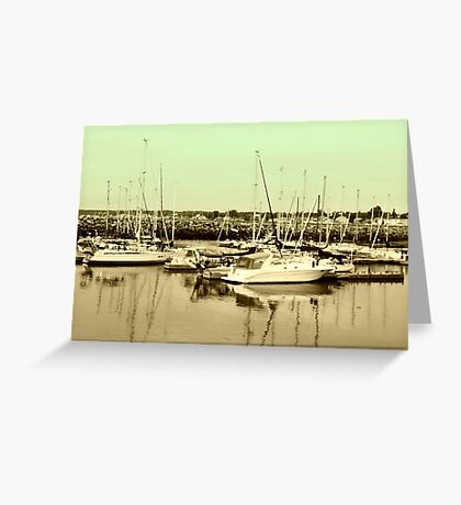 Province of Quebec Marina Greeting Card