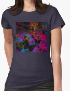 Butterfly Dance Womens Fitted T-Shirt