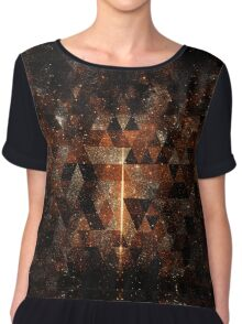 Gold beam in geometric sparkly universe Chiffon Top
