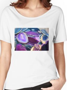 Purple Stones Women's Relaxed Fit T-Shirt