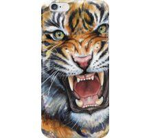 Ferocious Tiger Watercolor iPhone Case/Skin