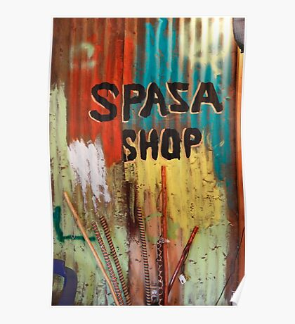 Spaza Shop Sign Poster