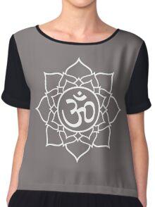 Lotus Yoga Oom Aum Namaste Meditation Chiffon Top