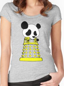 Panda  Robot Women's Fitted Scoop T-Shirt