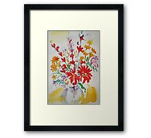 Flowers in a Jar Framed Print
